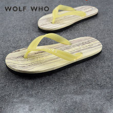 WOLF WHO New Arrival Summer Men Flip Flops High Quality Beach Sandals Non-slide Male Slippers Zapatos Hombre Casual Shoes X-166(China)