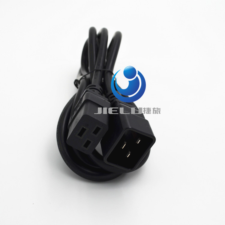 10 pcs/lot C19 C20 Power Cord Server UPS Power Cable C19 Female to C20 Male 16A/250V power supply cord 3X1.5mm square Power Wire