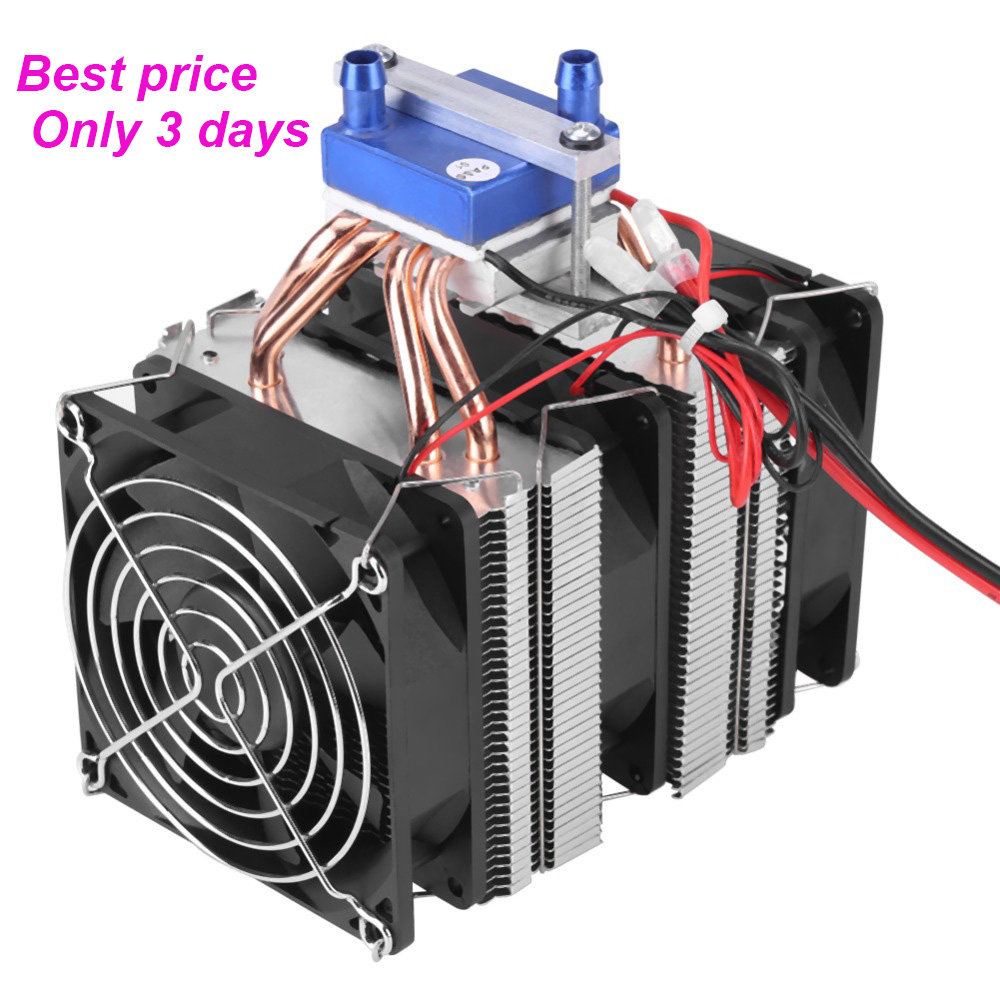 1 PC Thermoelectric Cooler Semiconductor Refrigeration Peltier Cooler Air Cooling Radiator Water Chiller Cooling System Device semiconductor refrigeration piece of kit three nuclear cooling air cooling device