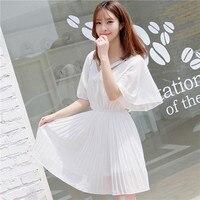 زائد الحجم المرأة فستان قصير الأكمام ضئيلة صغيرة حلوة الرياح تجعل طويلة الدهون فساتين الأبيض الأحمر الأسود 8870