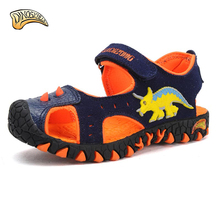 Children's sandals new 2019 Summer sandals kids beach sandals flashing lights 3D dinosaur shoes boys children's shoes