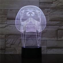 Animal Manatee Led Night Light Touch Sensor RBG Bedroom Decorative Lamp Child Kids Baby Kit Nightlight sea cow 3D Sirenia