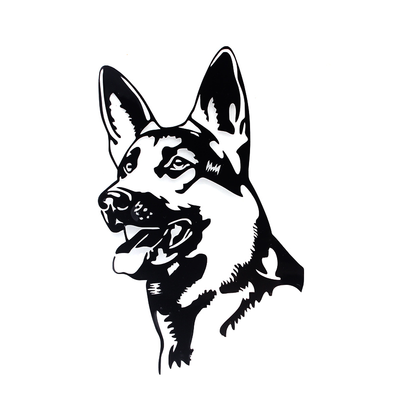 Jetting 1 Pcs German Shepherd Dog Car Stickers Personality Vinyl