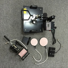 5 In 1 combo heat press machine for plates t shirt heat press machine for sale