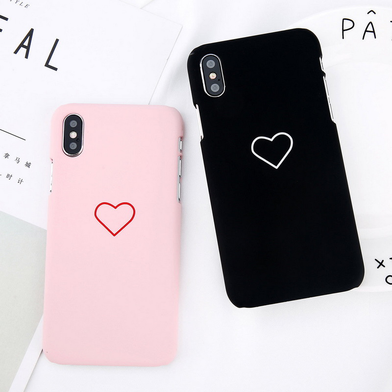 NOWAL Love Hearts Lovely Case For iPhone X XR XS Max 6 6S Plus Cases Hard PC Plastic Back Cover For iPhone XS XR X 7 8 Plus Capa