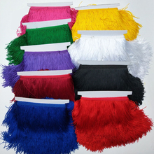 10Meter/Lot Lace Ribbon Gland Tassel Fringe Trim Silk Tassels Tassle Latin Dress Stage Clothes Curtain Clothing Accessories