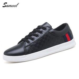 300f74bdb Samool Men Leather Autumn Casual Male Walking Shoe