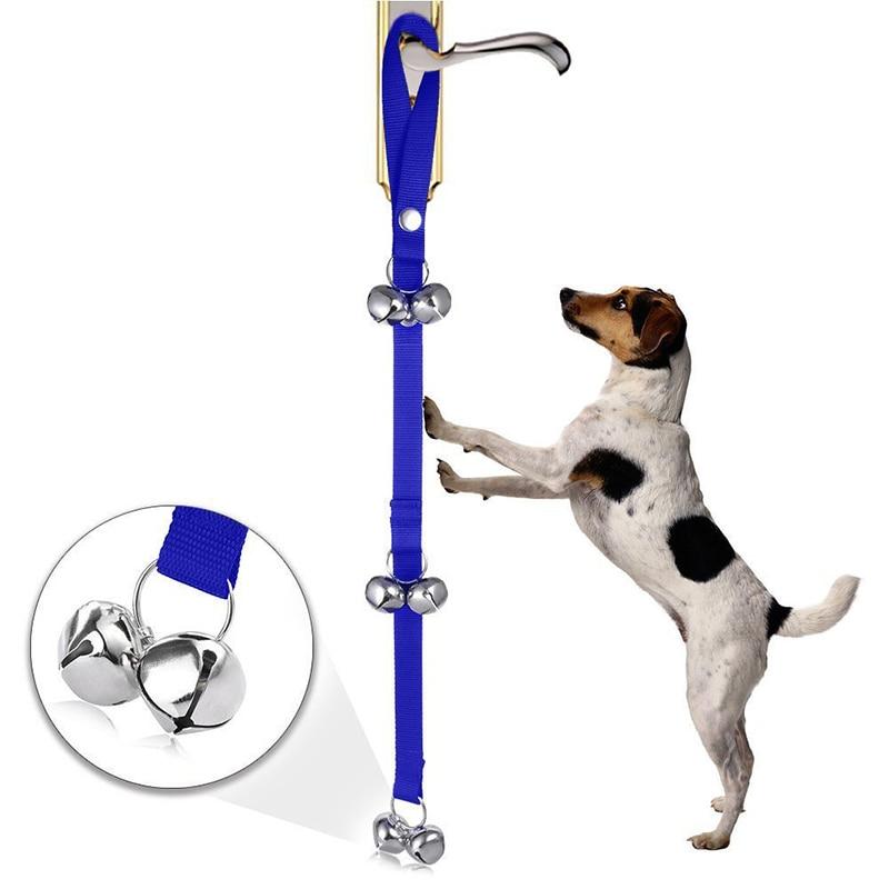 Creativa Pet Cat Dog Collar de la Cuerda de Tracción Formación Timbre Campanas d