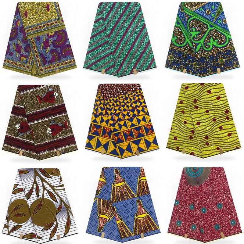 100% tessuto di cotone stampato Cera Eccellente Hollandais 2018 tessuto della Cera Olandese Hollandais Cera Africano di Vendita Calda di Disegno Per Le Donne del Vestito T112101