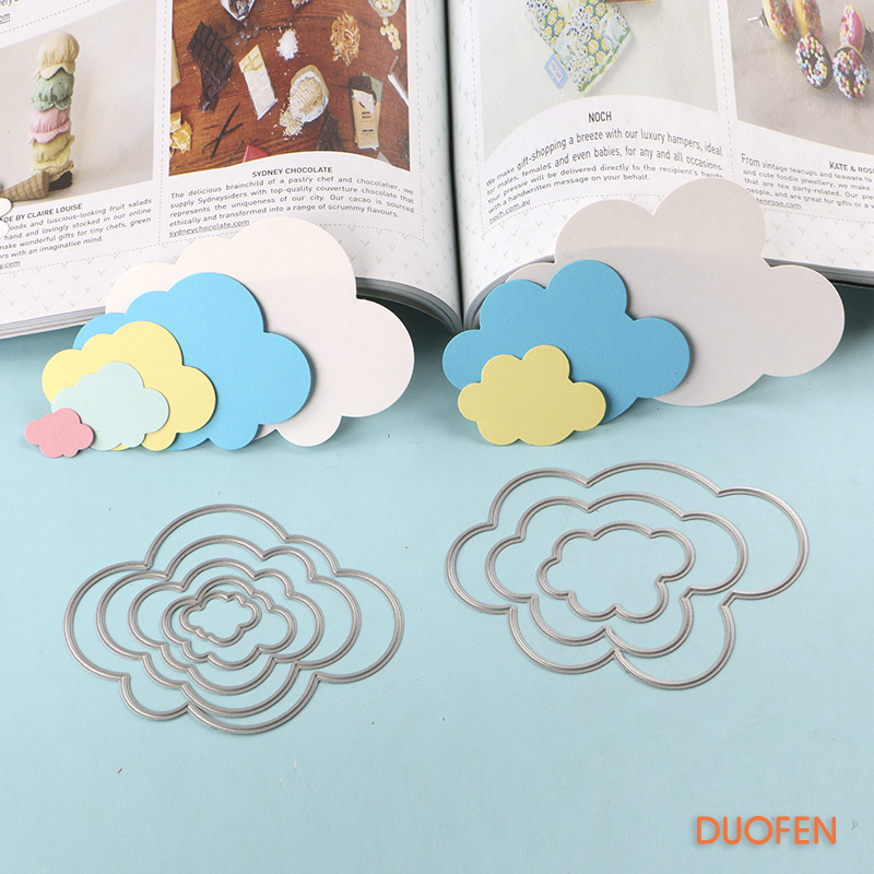 Full Range Of Specifications And Sizes And Great Variety Of Designs And Colors Considerate 150213214 Cloud Stencil Metal Cutting Dies For Diy Papercraft Project Scrapbook Paper Album Greeting Cards Paper Work Famous For High Quality Raw Materials