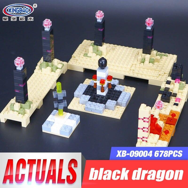 Xingbao 09004 678Pcs Blocks Life Series Black Dragon Set Children Educational Building Blocks Bricks Boy Toy Model Birthdad Gift 72pcs educational building blocks set