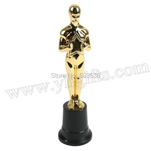 1PC/LOT.Plastic gold person trophy cup,Learning award,Prizes toys,School sports medal,Creative study reward,5 x 5.8 x 22.5 cm