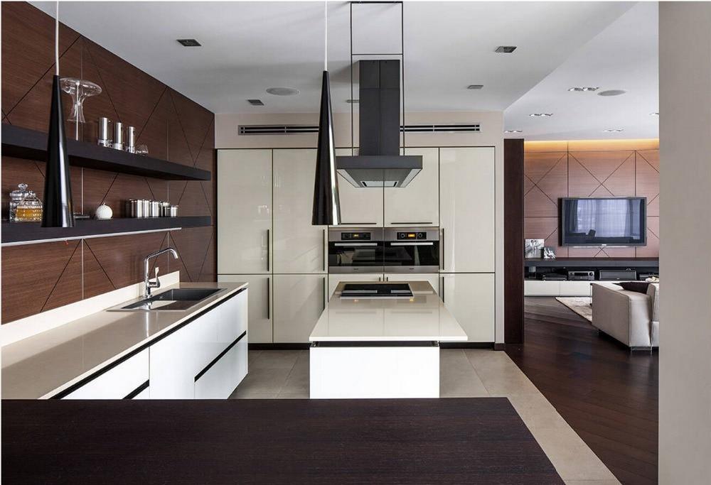 venta caliente moderno de alto brillo lacado blanco gabinetes de cocina muebles de cocina nuevo