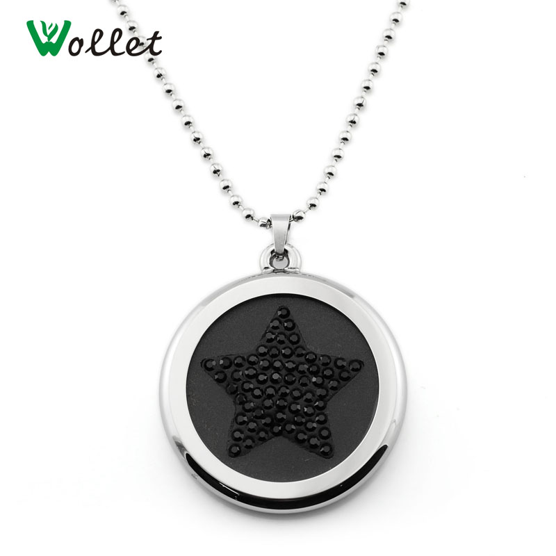 Wollet Science Bio Star Shape Design 50pcs CZ Stone Negative Ion Scalar Stainless Steel Quantum Energy Volcano Pendant