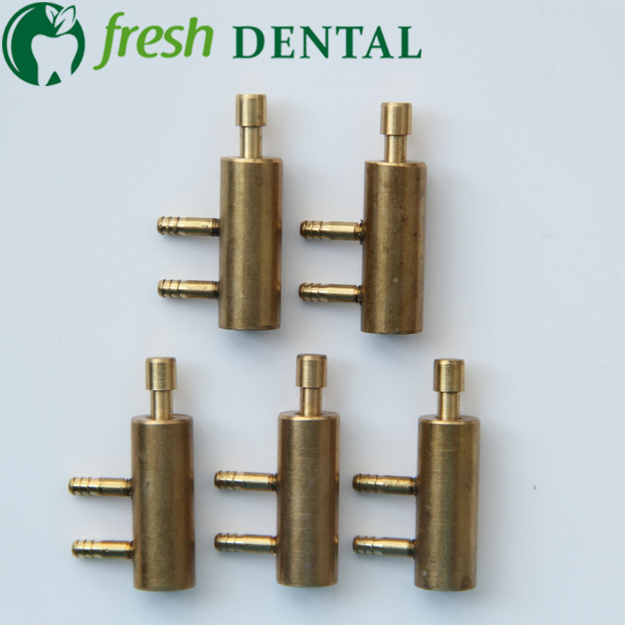 10PCS Dental Chair Unit Holder Valve Normal Close Hanging Valve Often Shut Valve 3mm Copper Connector High Quality SL1207