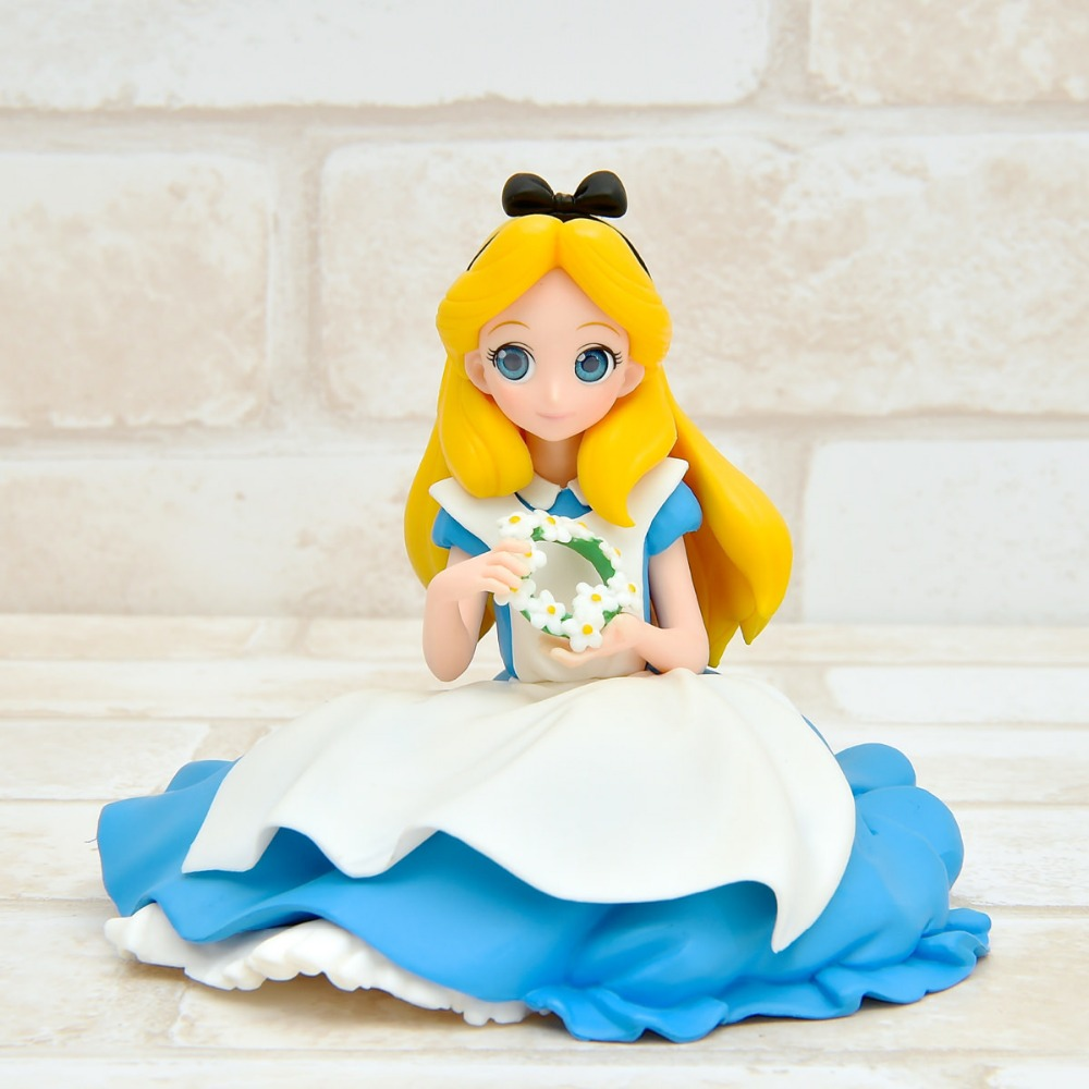 Alice in Wonderland Mad Hatter White Queen Crystalux Alice Q version 14CM PVC Action Figures Model Collectible Toys