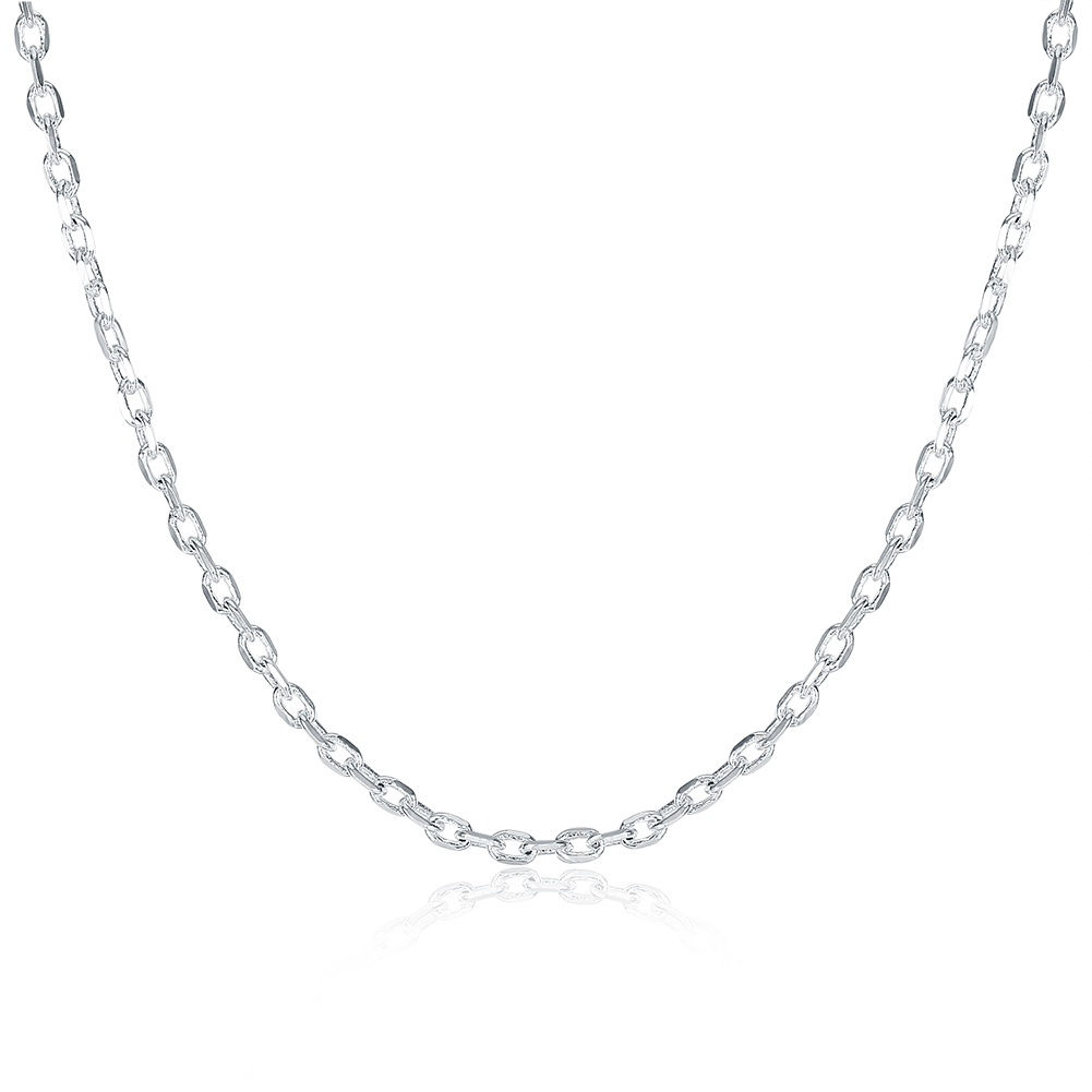 Wholesale Price Hot Sale 925 Jewelry Silver Plated 2mm Link Rolo Chains 16