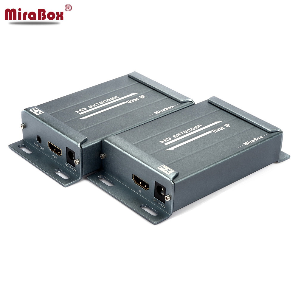 MiraBox HDMI RJ45 Extender HDMI Receiver Sender Over TCP/IP IP RJ45 Ethernet Cable Cat5e Cat6 HDMI Audio Extender Like Splitter