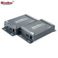 MiraBox HDMI RJ45 Extender HDMI Receiver Sender Over TCP/IP IP RJ45 Ethernet Cable Cat5e Cat6 HDMI Audio Extender Like Splitter