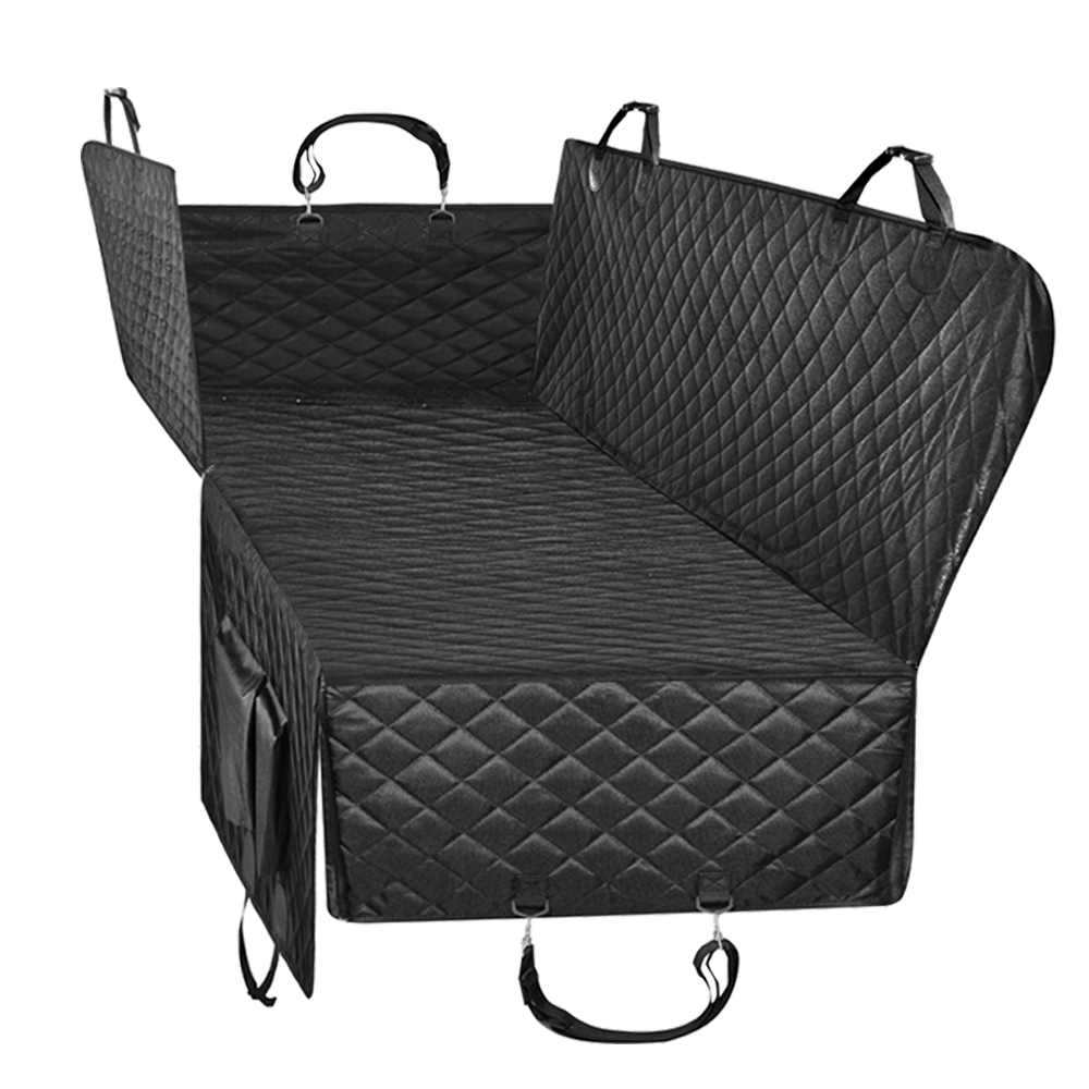 Dog Car Seat Cover Waterproof Pet Carrier Dog Seat Cover For Back Seat Black Hammock Convertible With Side FlapsDog Car Seat Cover Waterproof Pet Carrier Dog Seat Cover For Back Seat Black Hammock Convertible With Side Flaps