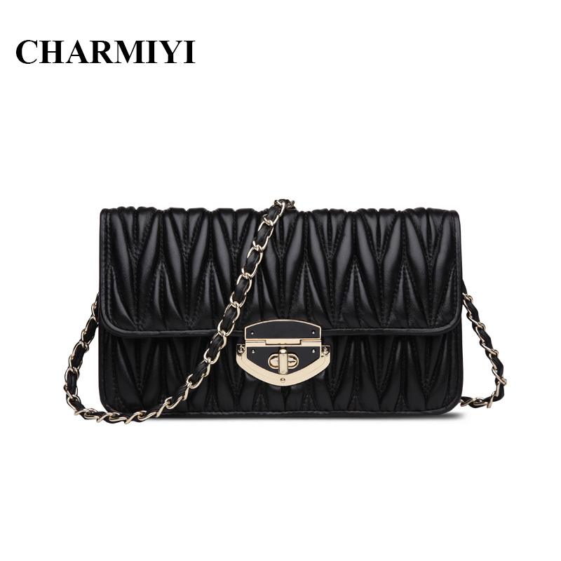 ФОТО CHARMIYI fashion genuine leather women crossbody shoulder bag luxury famous brand High quality Casual Clutch women messenger bag