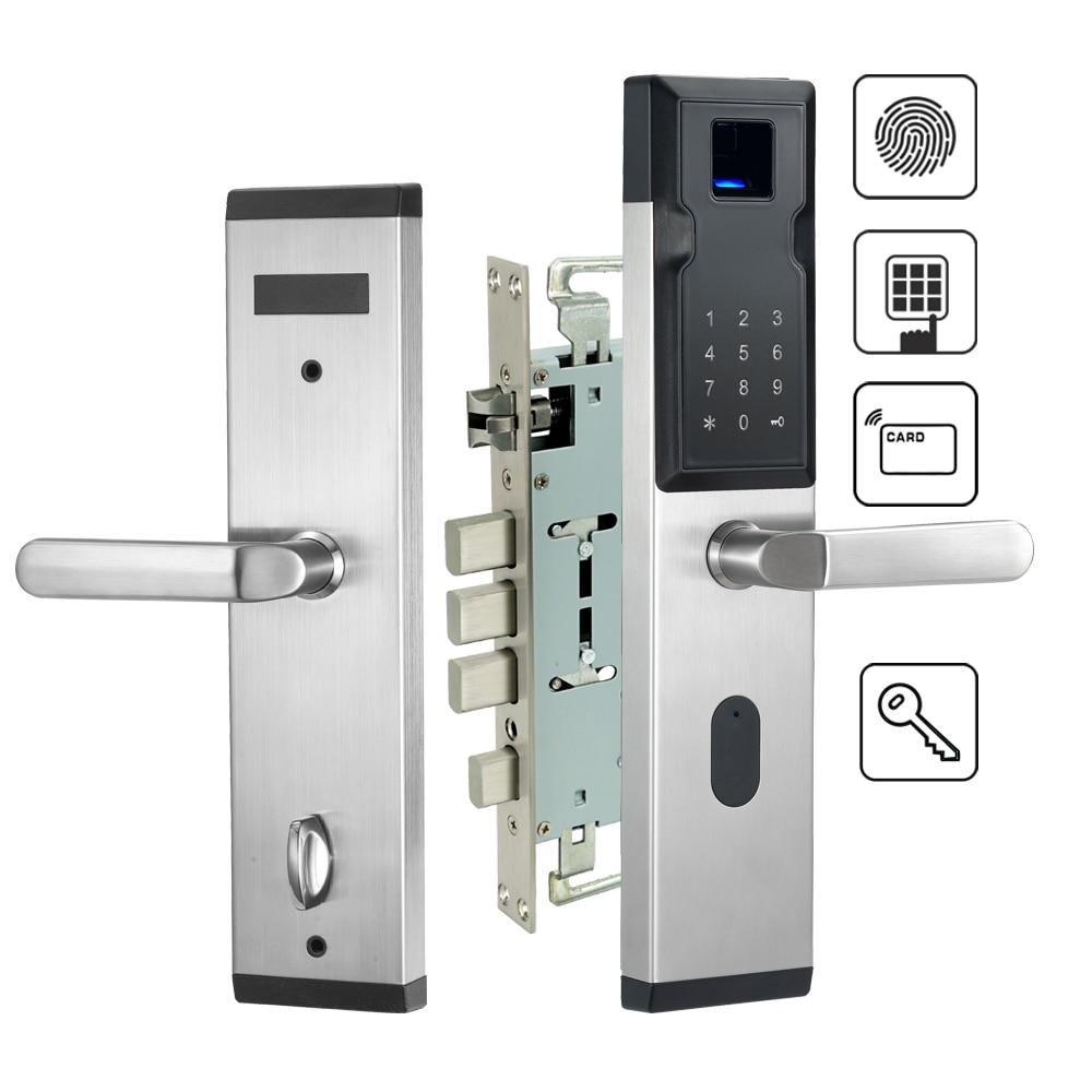 Security Electronic Lock Fingerprint Door Lock Digital Smart Door Lock For Home With Password & RFID Card Unlocked цена 2017