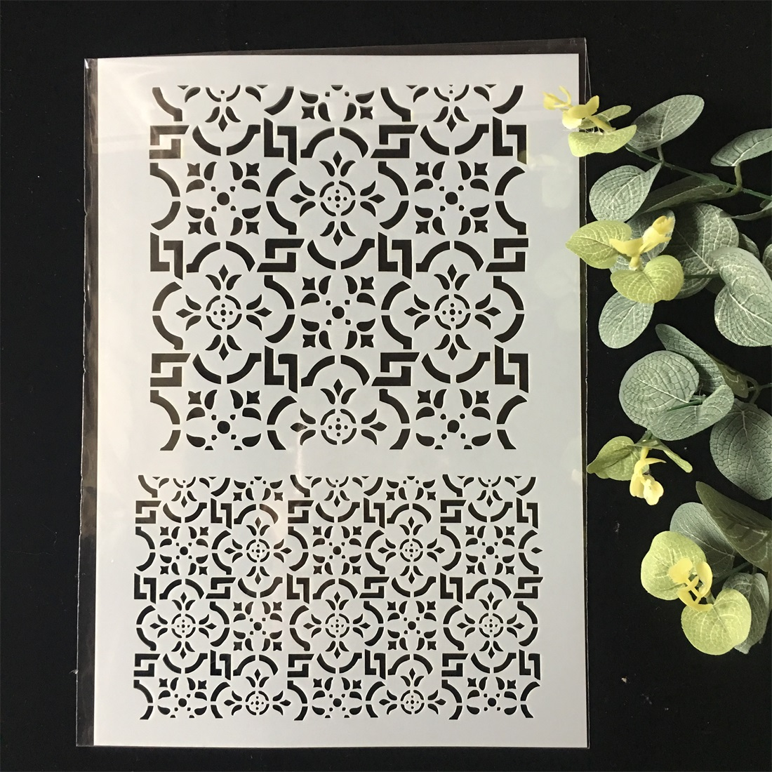 New A4 Floral Frame DIY Layering Stencils Wall Painting Scrapbook Coloring Embossing Album Decorative Paper Card Template