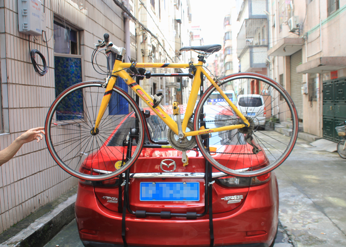 BC-7515 Car bike rack bear weight capacity 45KG car carried bicycle rack high mount bike carrier 3 bikes made in Taiwan multi function aluminum car frame rear cycling bike bicycle rack holder bicyles mount carrier for car