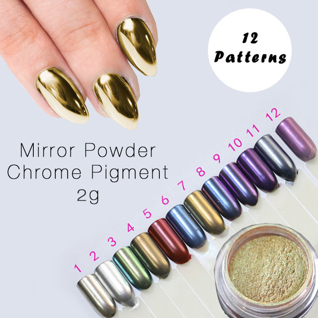2g Mirror Powder Gold Sliver Chrome Pigment Powder