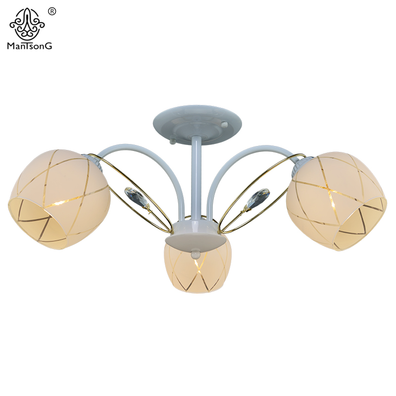 Classic Ceiling Lamp LED E27 Bulb Recommend Chip Crystal Chandelier Bedroom Home Lighting Luminaire White Glass Shades Vintage smart bulb e27 7w led bulb energy saving lamp color changeable smart bulb led lighting for iphone android home bedroom lighitng