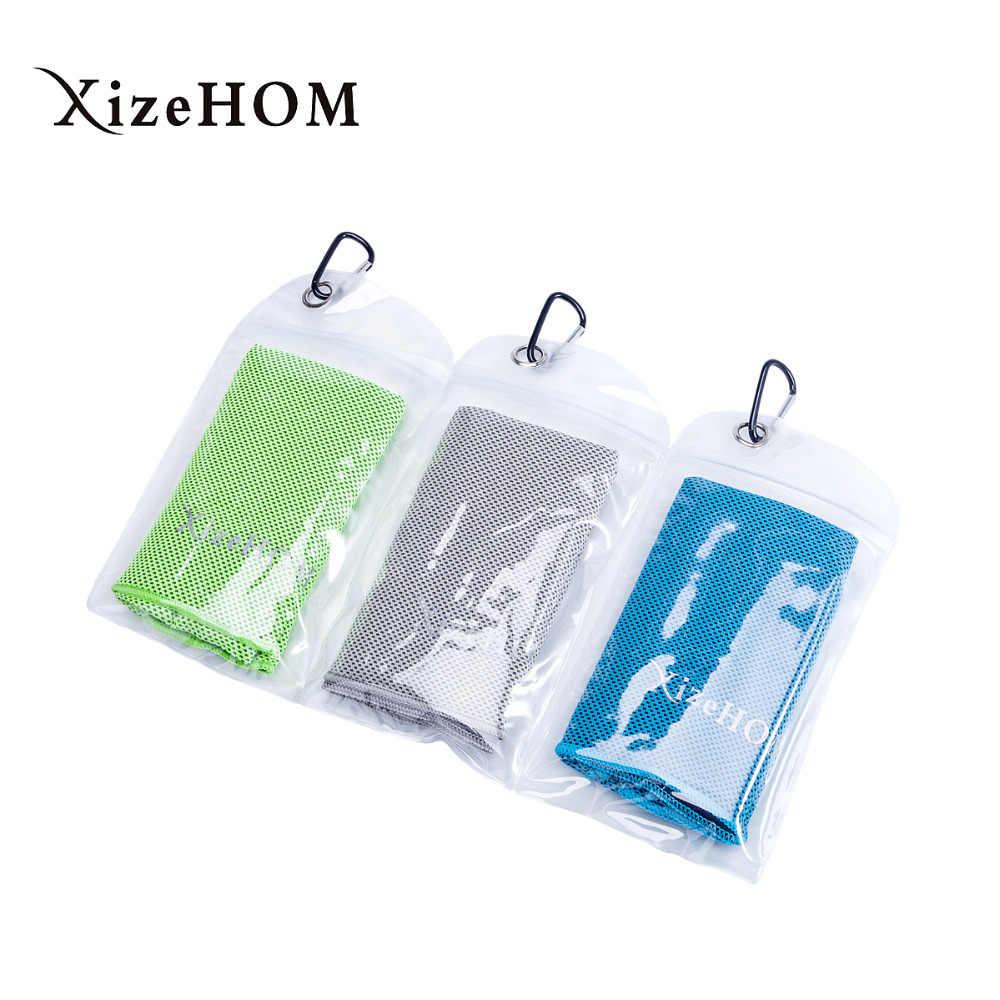 XizeHOM Multicolor 120*30cm ręcznik na lód narzędzie trwałe błyskawiczny ręcznik chłodzący ciepła ulga wielokrotnego użytku Chill ręcznik chłodzący zimny ręcznik