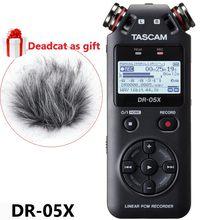 Nowa wersja TASCAM DR05x DR-05X ręczny profesjonalny przenośny dyktafon cyfrowy MP3 długopis z funkcją nagrywania interfejs audio usb