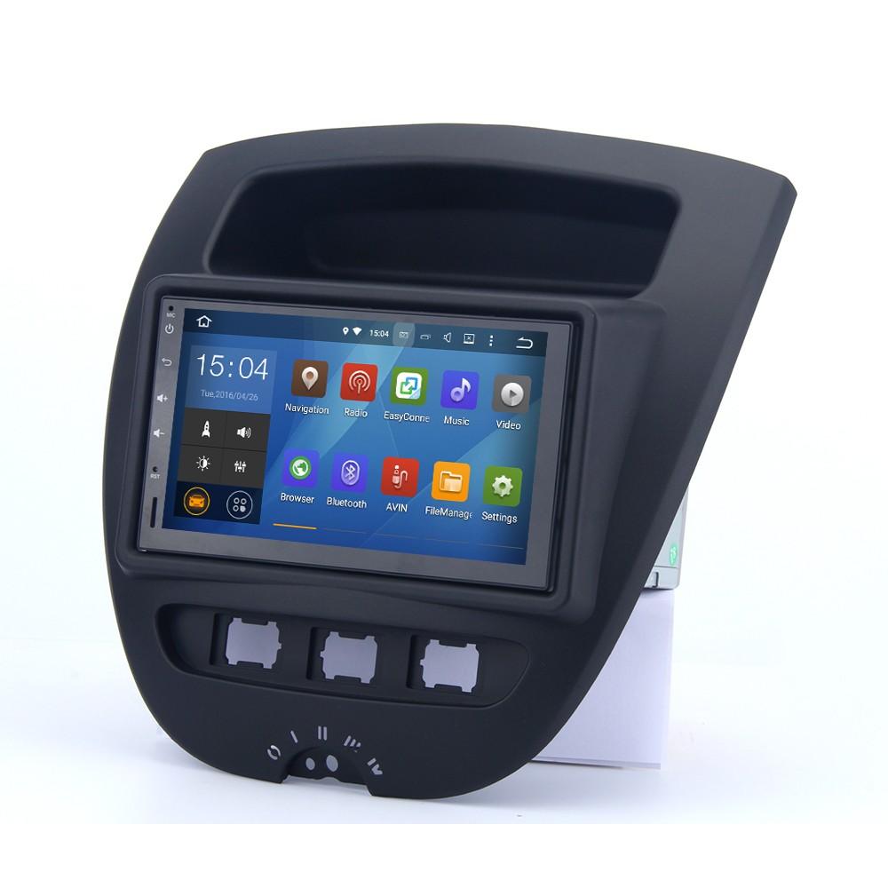 Android 4.4.4 Voiture GPS Radio pour Citroen C1 Toyota Aygo Peugeot 107 1024*600 Écran Tactile WIFI Bluetooth