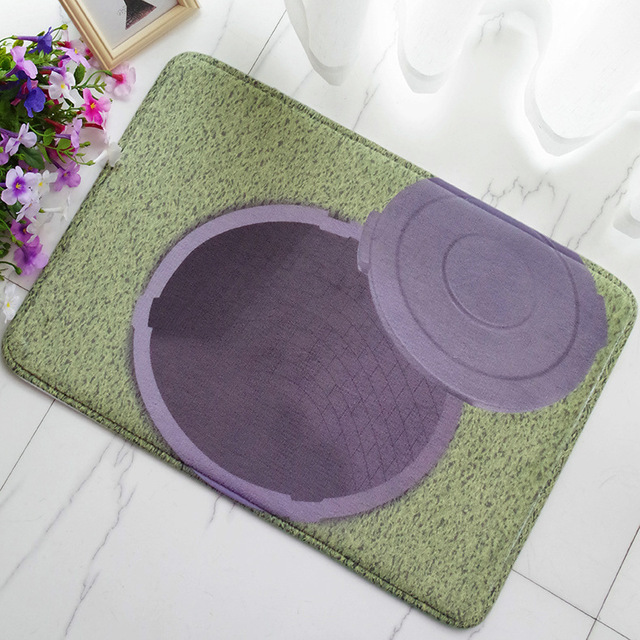 Creative 3D Well Plush Entry Foyer Welcome Velvet Carpet Home Textile Floor Decoration Mats Floor Door & Creative 3D Well Plush Entry Foyer Welcome Velvet Carpet Home ...