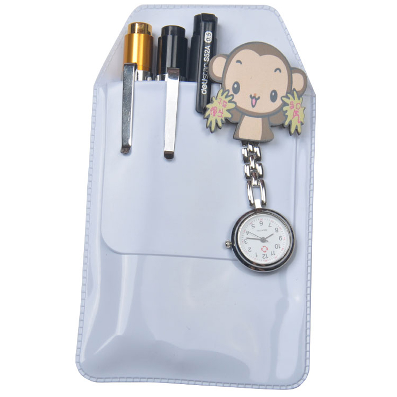 Scrub Transparent Doctors Nurses Dedicated Pen Bag Practical Pen Inserted Leak-Proof PVC Material Hospital Supplies