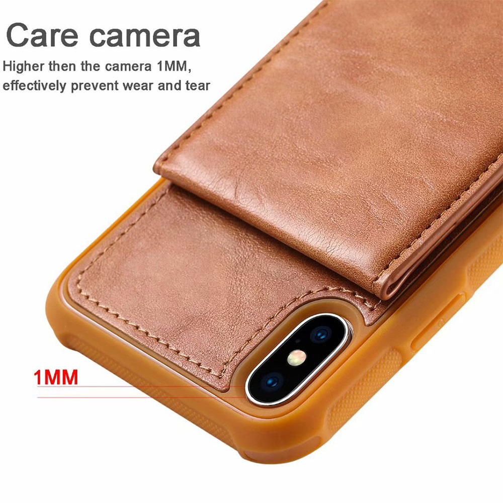 New Wallet Flip PU Leather Case For iPhone X 10 8 6 6S 7 Plus ID Card Pocket Stand Cover For Samsung Galaxy Note 8 S8 S9 Plus