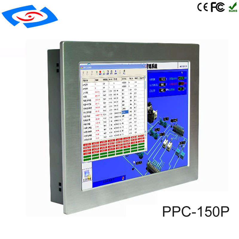 Low Cost Industrial Tablet PC IP65 Waterproof 15 Inch Touch Screen All In One PC Support WiFi/3G/4G For Factory Automation