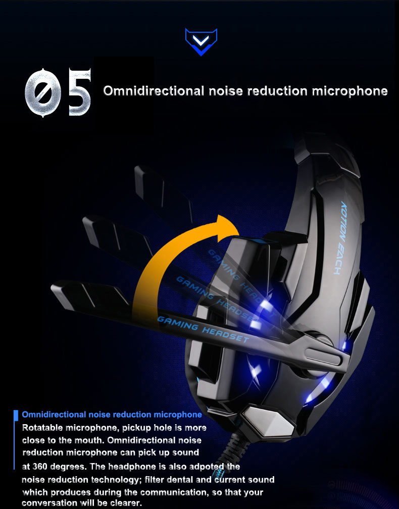 USB 7.1 Surround Sound Version Game Gaming Headphone 6