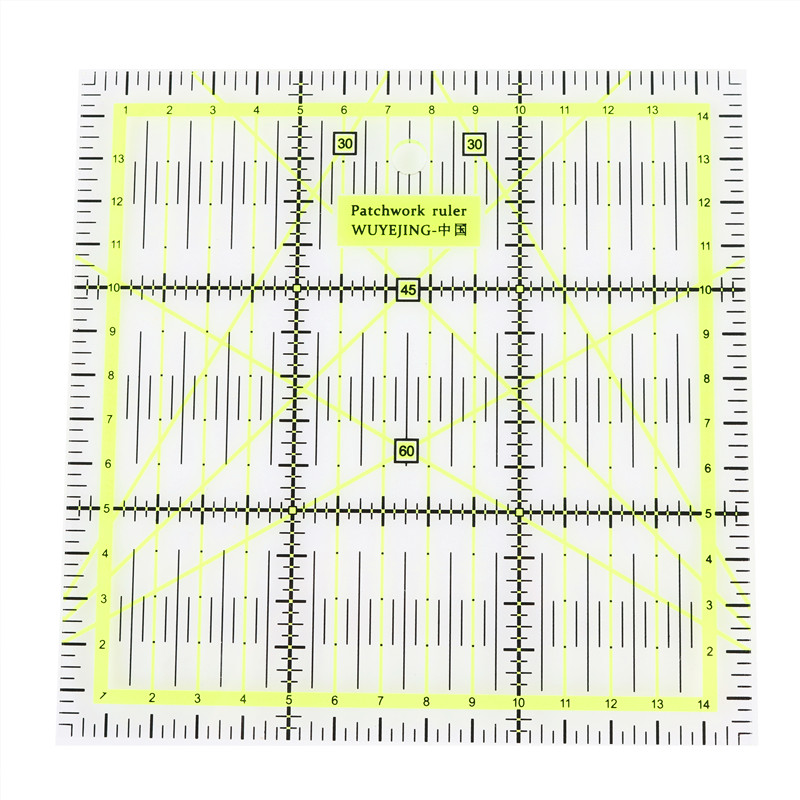 Ruler Wholesale 1pcs 15 * 15cm * 0.3cm Quality Acrylic Material Patchwork Ruler Student Ruler DIY Hand Laying Cloth Ruler