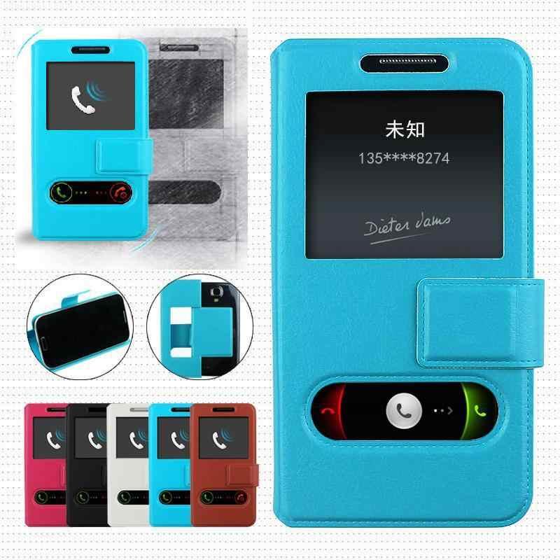 Untuk LG L65 D280 D280n Universal PU Flip Telepon Kembali Cover Mewah untuk LG L65 D280 D280n