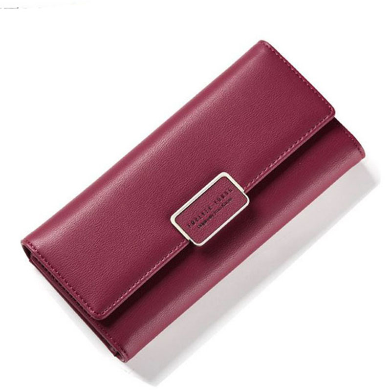 Fashion Women Leather Wallets Female Card Holder Wallet Long Clutch bags Brand Luxury Coin Purse Pu Leather Lady bag New new fashion women leather wallet deer head hasp clutch card holder purse zero wallet bag ladies casual long design wallets
