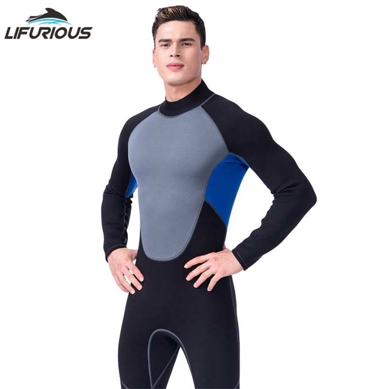 LIFURIOUS New Swim Neoprene Wetsuits Men Swimming Surfing One-Piece Swimsuit Underwater Hunting Wetsuit Swimwear For Diving Suit professional surfing swimwear mens one piece diving swimsuit lycra front zip crew uv snorkeling swimming surfing suit wetsuit