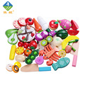 Yiwang Baby Toys 20 Pcs/ Lot Wood Early Education Toys Children Fruit Vegetable Kitchen Cutting Toys Kids Pretend Play Jouet
