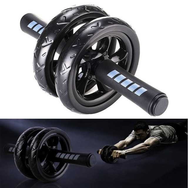 Ab Roller Wheel Abdominal Core Strength Training Fitness Gym Home Office  Exercise Workout Body Building Equipment