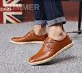 2016 Nuevos hombres de Cuero Genuinos ocasionales zapatos de los hombres del otoño del resorte de marca marea hombres zapatos casual envío gratis