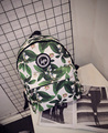 Hot-selling 2017 nova moda Harajuku skate HYPE carta folha mochila estilo preppy mochila mulheres viajar bolsa de ombro
