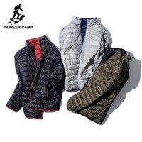 Pioneer Camp Packable ultra Fina para baixo homens jaqueta de marca-roupas simples casual duck down brasão masculino reversível desgaste AYR701384