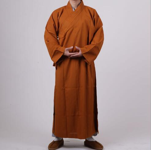 Buddhist Robe Men Women Frock Buddhist Long Clothing Monk Yellow Gray