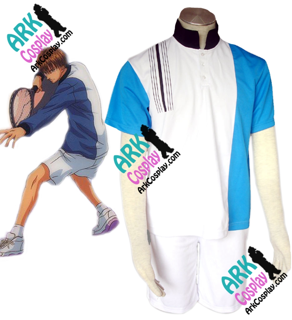 The Prince of Tennis Atobe Keigo Cosplay White Mens Summer Japanese School Uniform The Prince of Tennis Cosplay Costume