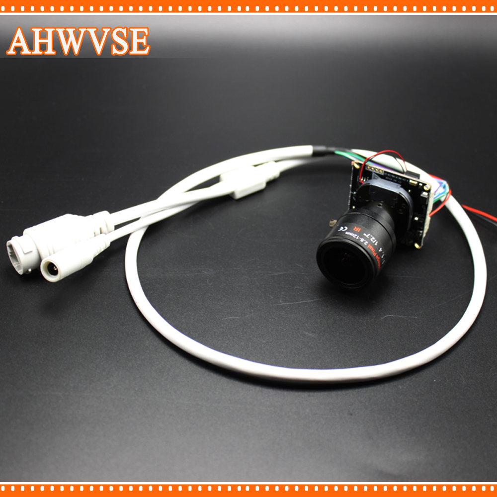 цены AHWVSE High Resolution H.264 1080P 25fps IP camera module board with 2.8-12mm Lens 720P 960P CCTV camera with LAN cable ONVIF